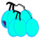 download Grapes clipart image with 225 hue color