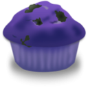 download Blueberry Muffin clipart image with 225 hue color