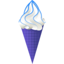 download Ice Cream Cone clipart image with 225 hue color