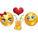 Lovers Date Smiley Emoticon