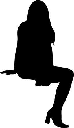 Human Silhouette Sitting Png