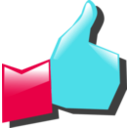 download Thumbs Up clipart image with 135 hue color