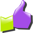 download Thumbs Up clipart image with 225 hue color
