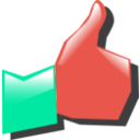 download Thumbs Up clipart image with 315 hue color