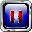 Icon Blue Multimedia Pause