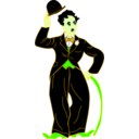 download Chaplin With Hat clipart image with 45 hue color