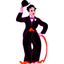 download Chaplin With Hat clipart image with 315 hue color