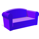 download Sofa clipart image with 225 hue color