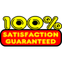 Satisfaction Guaranteed Vector Sticker