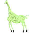 download Rock Art Acacus Giraffe Colored clipart image with 45 hue color