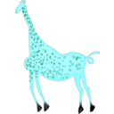 download Rock Art Acacus Giraffe Colored clipart image with 135 hue color