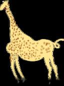 Rock Art Acacus Giraffe Colored