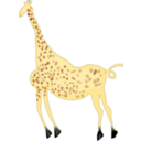 Rock Art Acacus Giraffe Colored