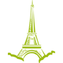 download Eiffel Tower Paris clipart image with 225 hue color