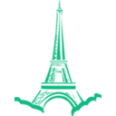 download Eiffel Tower Paris clipart image with 315 hue color