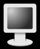 Computer Screen Icon Grayscale
