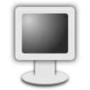 Computer Screen Icon Grayscale