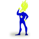 download Flame Man clipart image with 45 hue color