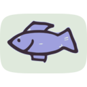 download Simple Fish clipart image with 45 hue color