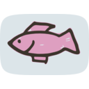download Simple Fish clipart image with 135 hue color