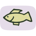 download Simple Fish clipart image with 225 hue color