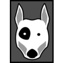 download Bull Terrier clipart image with 225 hue color
