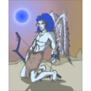 download Angel clipart image with 180 hue color