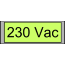 Digital Display With Voltage 230 Vac