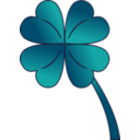download 4 Leaf Clover Gradient clipart image with 45 hue color