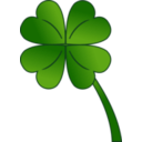 download 4 Leaf Clover Gradient clipart image with 315 hue color