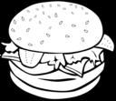 Fast Food Lunch Dinner Hamburger