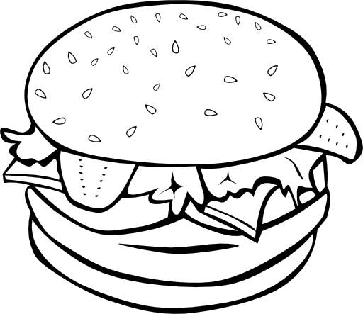 Fast Food Lunch Dinner Hamburger Clipart I2clipart