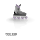 download Rollerblades clipart image with 225 hue color