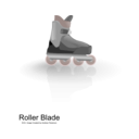 download Rollerblades clipart image with 315 hue color