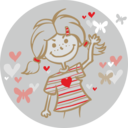 Girl And Flying Hearts