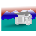 download Dump Truck clipart image with 135 hue color