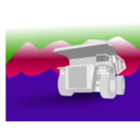 download Dump Truck clipart image with 225 hue color