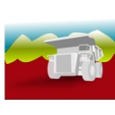 download Dump Truck clipart image with 315 hue color