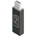 download Cm Isometric Pendrive clipart image with 315 hue color