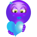 download Cute Girl Heart Emoticon Smiley clipart image with 225 hue color