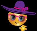Fashion Girl Smiley Emoticon