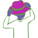 download Put On Hat clipart image with 225 hue color