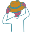 download Put On Hat clipart image with 315 hue color