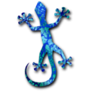 download Gecko 3 clipart image with 135 hue color