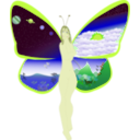 download Butterfly Life clipart image with 45 hue color
