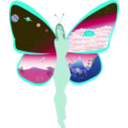 download Butterfly Life clipart image with 135 hue color