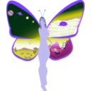 download Butterfly Life clipart image with 225 hue color