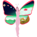 download Butterfly Life clipart image with 315 hue color