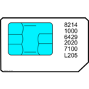 download Sim Card clipart image with 135 hue color