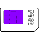 download Sim Card clipart image with 225 hue color